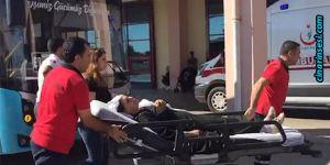 Diyarbakır Diclekent'te otobüste fenalaşan kadın hastaneye kaldırıldı