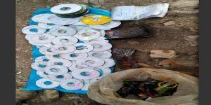 Siirt Pervari'de PKK'ye ait yaşam malzemesi ve CD ele geçirildi