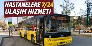 Diyarbakır'da hastanelere gece toplu ulaşım hizmeti başladı