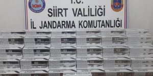 Siirt Pervari'de gümrük kaçağı sigara ele geçirildi