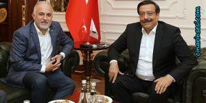 Kızılay Genel Başkanı Kerem Kınık'tan Cumali Atilla'ya ziyaret