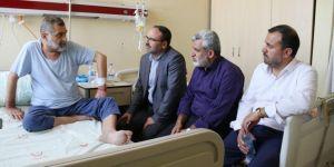 HÜDA PAR heyetinden yazar Fadıl Şani'ye 'geçmiş olsun' ziyareti