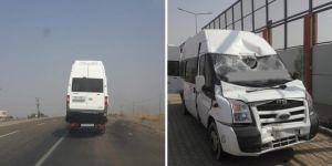 Diyarbakır'da kaza geçiren dolmuşta esrar bulundu