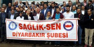 Diyarbakır'da sağlık sorunlarına dikkat çekmek için basın açıklaması yapıldı