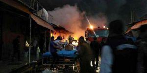 Erbil'de büyük yangın: Bin 200 iş yeri kül oldu