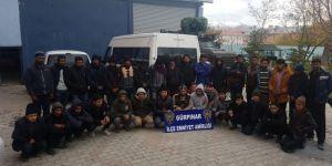 Van Gürpınar'da 34 göçmen yakalandı