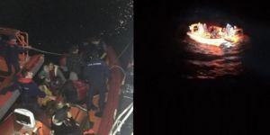 Bodrum açıklarında göçmen teknesi battı: 1 ölü