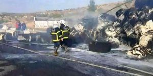 Trafik kazasında yanan sürücü hayatını kaybetti