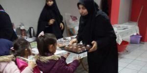 Çocuklardan yetimler yararına düzenlenen kermese destek