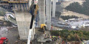 Viyadük inşaatında kaza: 5 işçi beton bloğun altında kaldı