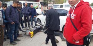 Batman'da otomobil ile motosiklet çarpıştı: 1 yaralı