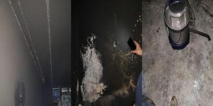 Çınar Ağaçsever'de elektrik kontağı yangına sebep oldu