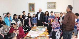 Bozova'da sedef kakma kursu açıldı