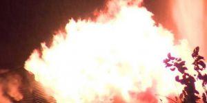 Aksaray'da yangın: 30 kişi dumandan etkilendi