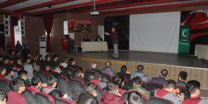 Şırnak Silopi'de lise öğrencilerine madde bağımlılığı tehlikesi anlatıldı