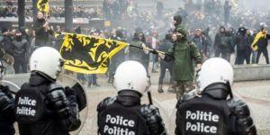 Belçika'da protestoculara gaz bombası ve TOMA ile müdahale
