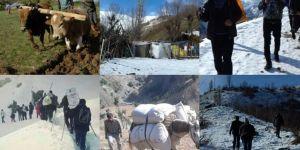 Hizmet alamayan köylüler ilkel bir yaşam sürdürüyor