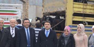 Genç çiftçilere keçi hibe edildi