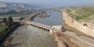 The move of historical Eyyubi Mosque continue in Hasankeyf