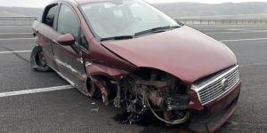 Elazığ-Bingöl Karayolu'nda aşırı hız kaza getirdi: 1 yaralı
