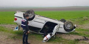 Kontrolden çıkan otomobil takla attı: Bir ağır yaralı