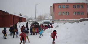 Bingöl Karlıova'da eğitime kar engeli