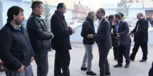 HÜDA PAR Genel Başkanı Sağlam'dan GİK üyesi Eşin'e taziye ziyareti