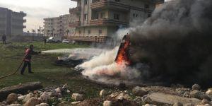 Mardin Nusaybin'de konteynerde çıkan yangın paniğe neden oldu