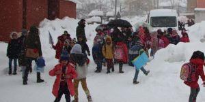 Bingöl Karlıova'da kar nedeniyle eğitime ara verildi