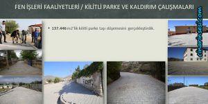 Lice'de 2 yılda 137.446 m2 kilitli parke taşı döşendi