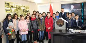 Mevlüt İlgin Ortaokulu öğrencilerinden Abdulkadir Çelik'e ziyaret