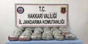 PKK operasyonunda 35 kilo toz esrar ele geçirildi