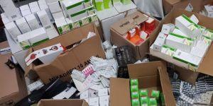Gaziantep'te 449 bin kaçak tıbbi ilaç ele geçirildi