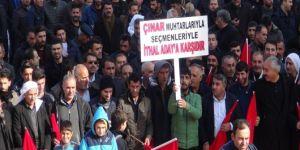 Çınar'da belediye başkan adayı tepkisi