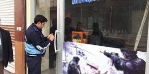 Viranşehir'de ruhsatsız iş yerleri kapatıldı