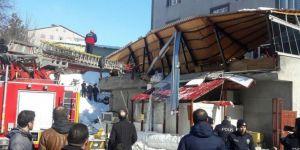 Bitlis'te çatı çöktü: Çok sayıda yaralı var