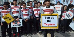 Diyarbakır'da öncelik hayatın, öncelik yayanın eylemi