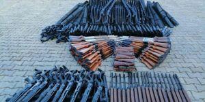 PKK'ye ait yüzlerce av tüfeği ele geçirildi
