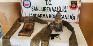 Akçakale'de sahte tarihi eser satıcılarına operasyon