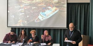 Mavi Marmara activists hold press release in London