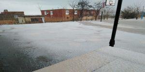 Çınar ilçemizde Mart ayında yerler beyaza büründü