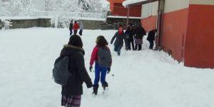 Bingöl'de eğitime kar engeli