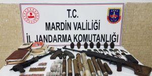 Nusaybin'de PKK'ye ait silah ve mühimmat ele geçirildi