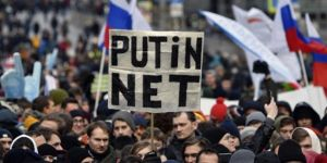 Protests against restrictions on internet in Russia