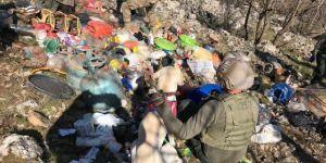 PKK'ye ait mühimmat ve yaşamsal malzemeler ele geçirildi