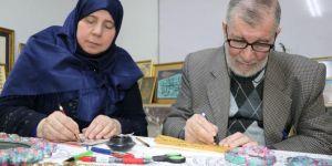 Suriyeli hattat çift, savaşı sanatla unutuyorlar