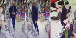 Alışveriş mağazasındaki hırsızlık anı kameraya yansıdı