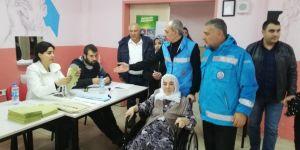 Mardin'de hastalara oy kullanma hizmeti