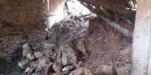 Sason'da çöken ahırın altında kalan 6 hayvan telef oldu
