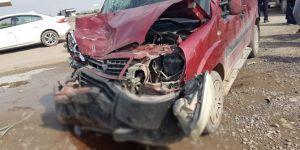 Nusaybin'de trafik kazası: 1 yaralı